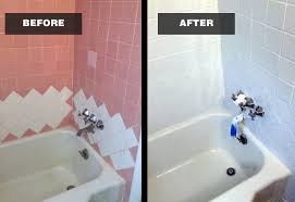 Refinish Bathroom Tile Amazing Bathtub Reglazing Pros 48 4848 Home