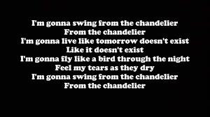sia chandelier letras