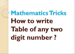 How to write a Table of any two digit number ? - YouTube