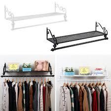 wall mounted garment clothes rail