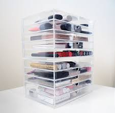 acrylic makeup organizer drawers more views ideas outstanding acrylic makeup drawers design