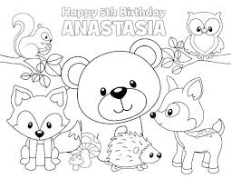 Coloring Pages Forest Animals Fox Animal Coloring Pages Avonrussia