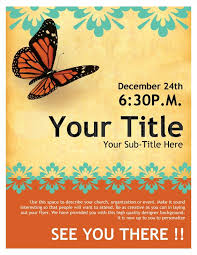 Template For Event Flyer Church Flyer Butterfly Template Flyer Templates