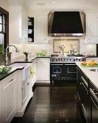 white cabinets dark floors. Delighful Floors White Cabinets Black Counter Island White Dark Floors   Kitchen To Cabinets Dark Floors T
