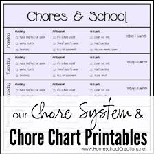 Our Chore System Chore Charts For Kids Printables