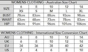 Womens Clothing Milk Fashion Sizing Charts