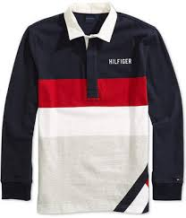 tommy hilfiger adaptive men rugby shirt with magnetic closures