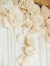 Paper Flower Wedding Backdrops 15 Ways To Use Paper Flowers At Your Wedding