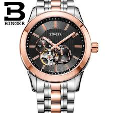 watches men luxury brand 2015 fashion mechanical brand wrist watch watches men luxury brand 2015 fashion mechanical brand wrist watch binger 50m water resistance business stainless steel watch