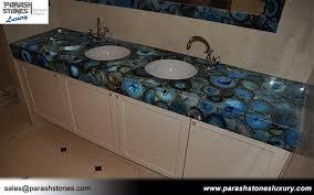 blue agate bathroom top