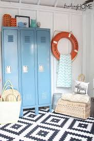 bathroom lockers. This Pool House Is Decorated So Beautifully! The Orange Life Raft A HomeGoods Find! Love Lockers! Bathroom Lockers