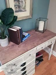white wood desk makeover
