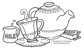 Tea Coloring Pages Free Coloring Library