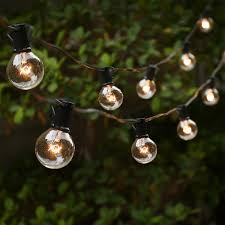 inch bulbs foot white wire strand clear globe outdoor string lights