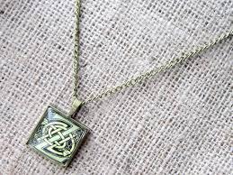 celtic initial bronze necklace letter z