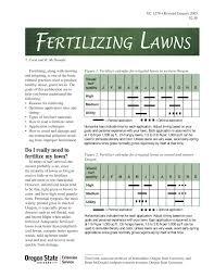 Fertilizing Lawns Osu Extension Catalog Oregon State