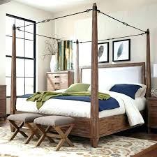 King Size Canopy Bed Frame King Size Canopy Bed Sets Bedroom Wooden ...