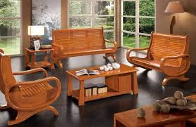 Furniture Contemporary Solid Wood Sofa Set  CenterfieldbarcomReal Wood Living Room Furniture