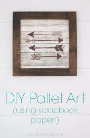 diy pallet sign ideas diy wood arrow sign using sbook paper upcycled pallet art