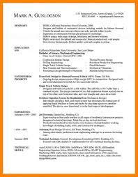 Resume Examples Templates Mechanical Engineering Engineer Template