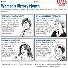 Women's History Month Printables | TIME For Kids | Teach the ...