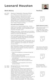 Director Of Operations / Business Partner Resume samples