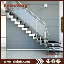 china modern indoor stainless steel temper glass railing straight staircase china fiberglass staircase glass railing helical staircase