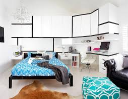 ... Gorgeous contemporary bedroom with a beautiful workspace [From: Dupuis  Design]