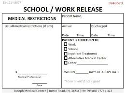 printable doctors note for work school work release doctors note doctors note for work pinterest