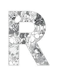 Letter R Colouring Pages Bxtremeclub