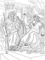 Koning David En Nathan Kleurplaat Gratis Kleurplaten Printen