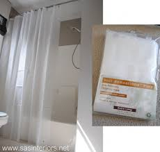 shower curtain shower environmentally friendly. How To Make Any Curtain Into A Shower - SAS Interiors Environmentally Friendly N