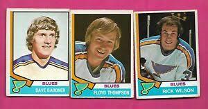 1974-75 OPC BLUES WILSON RC + GARDNER RC + THOMPSON RC CARD (INV# C3735) |  eBay