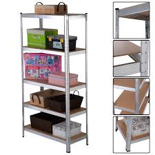 metal storage shelves. costway 5 level heavy duty shelf garage steel metal storage rack adjustable shelves