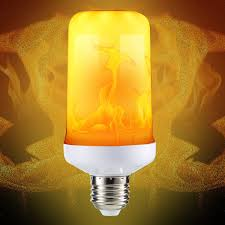 Light Bulbs That Look Like Fire E27 4 Modes Smd2835 Led Flame Effect Flickering Emulation Fire Light Bulb Decoration Lamp Ac85 265v
