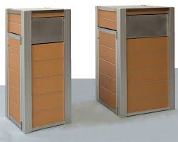 oahu large waste trash recycling bins containers receptacle custom outdoor hotel office airport parks