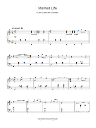 Sheet music arranged for easy piano in f major. Married Life Easy Piano Sheet Music Music Sheet Collection