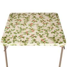 holly leaf vinyl elasticized tablecovers 356719