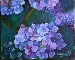 hydrangea painting reserved for simpsonandspann by artbygeorgia