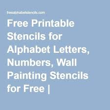 letter stencils for wall free printable stencils for alphabet letters numbers wall painting stencils for free