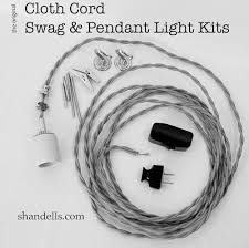 The Original Cloth Cord Pendant Light Kit from Shandells.com -- Make your  own