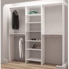 Wood closet shelving Gray Demure Design 81 Closet Design Wayfair