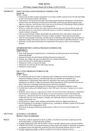 Education Coordinator Resume Sample Education Program Coordinator Resume Samples Velvet Jobs 1