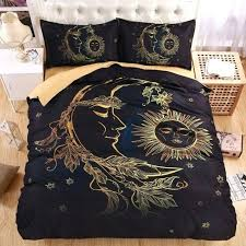size black and white super king duvet covers black and lightweight boho sun moon and stars 3d bedding set duvet cover set twin queen king beautiful
