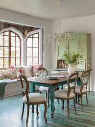 green dining room color ideas. Distressed Turquoise Dining Table With Pale Olive Green Cupboard Copper Knobs And Cup Pulls Room Color Ideas