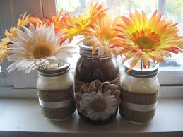 Mason Jar Decorations Mason Jar Decorations Which Decorated The Rooms With Shelves From