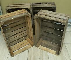 4 x vintage wooden apple crates storage box fruit crates free delivery