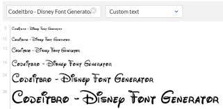 Disney Font 5 Awesome Disney Font Generator Websites