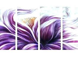 dark purple wall art purple metal wall decor flower metal wall art decor purple flower metal