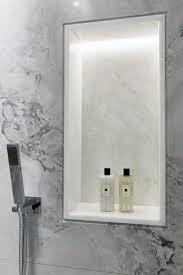 bright white led shower recessed niche light ideas